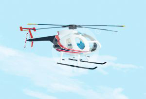 MD500E风直升机(MD530F Helicopter)